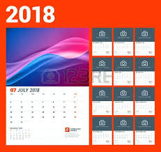 Calendar Sample Design Magnificent Wall Calendar Template For Year Vector Illustration Set Of Months