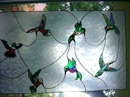 stained glass window kit faux kits clings hummingbirds cling for s uk stained glass window kit
