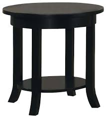 lovable wood round end table wood black round flare square legs shelf accent sofa side end