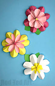 Make Flower With Paper Easy 3d Paper Flowers For Spring Red Ted Arts Blog