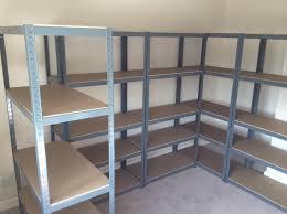contemporary garage shelves