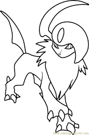 Small Picture Absol Pokemon Coloring Page Free Pokmon Coloring Pages