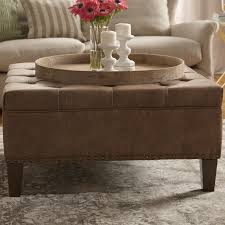 french round tufted ottoman coffee table blo country