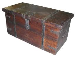 rustic wood trunk with metal trim other large sizes also avaiable