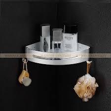 luxury bathroom shelves metal chrome