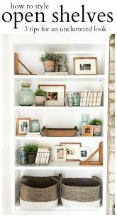 rustic warm office decor mas. How To Style Open Shelves: 3 Tips For An Uncluttered Look Rustic Warm Office Decor Mas