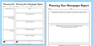 Newspaper Story Template Newspaper Report Planning Templates Esl Newspaper Resources