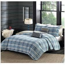 blue striped comforter