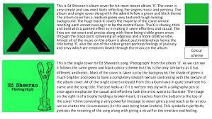 Showcase exclusif à paris le 18.04. Ed Sheeran Album Single And Advert Analysis
