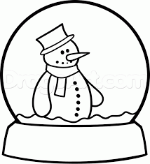 Small Picture Snow Globe Coloring Pages