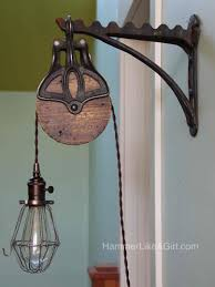 pulley light fixture diy light fixtures within the most brilliant along with stunning pulley pendant light