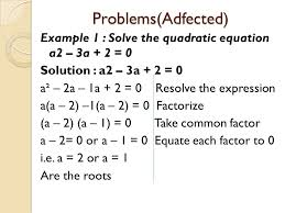 problems adfected 12 example 2 solve the quadratic equation