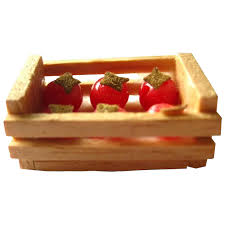 miniature tomato crate dollhouse miniatures miniature farm decor dolls openslate collectibles ruby lane