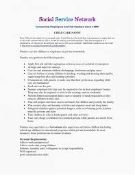 Resume Job Description Examples Resume For Nanny Job Resume Templates Design For Job