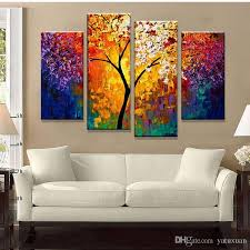 2018 bright life tree picture painting handmade modern abstract oil painting on canvas wall art home decoration gift no framed from yatuxuan  on canvas wall art tree of life with 2018 bright life tree picture painting handmade modern abstract oil