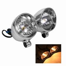 2pcs Motorcycle Headlights Fog Light Motorbike Bullet Accesorios Para Moto Led Motorcycle For Yamaha Honda Harley Kawasaki Etc