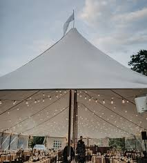 lighting options. The Perfect Way To Add Glamour And Charm Your Special Event! A Clear Bulb On White Wire, This Lighting Option Can Be Added Any Frame Or Pole Tent. Options L