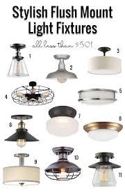 Flush Mount Kitchen Ceiling Light Stylish Flush Mount Light Fixtures Under 50 Remodelaholic