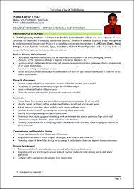 Format For Curriculum Vitae Curriculum Vitae Format In Sri Lanka Free Samples Examples 5