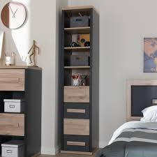 baxton studio pandora dark grey and oak light brown storage cabinet