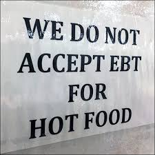 no ebt hot food notice fixtures close up