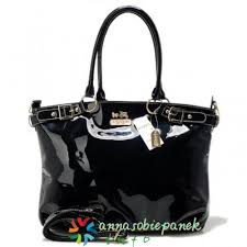 Coach Madison Kelsey Smooth Large Satchels Black