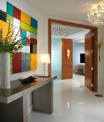 modern entry lighting modern office interior design entry contemporary with wall art lighting white floor pendant