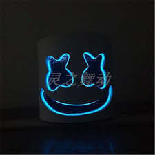 <b>NEW MarshMello DJ</b> Mask Tiesto <b>LED</b> Full Head Helmet Halloween ...