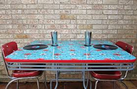 Mod Podge Kitchen Table How To Refinish A Table With Fabric And Resin