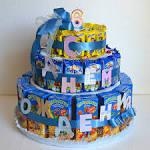 Детский торт из конфет для мальчика