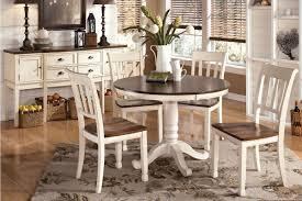 Whitesburg Round Table  4 Side Chairs from GardnerWhite Furniture