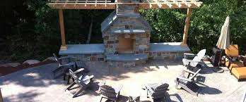 stamped concrete patio with fireplace. Concrete, Concrete Patio, Fireplace, Minneapolis Fireplace Installer, St. Paul Stamped Patio With R