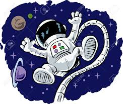 Image result for floating person clipart astronaut
