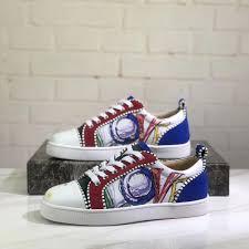 Glitter Bottom Shoes Designer Best Promo A74a Red Bottom Graffiti Casual Shoes Designer