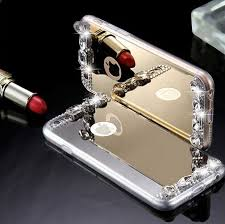 iphone 5s gold case for girls. gold diamond bling tpu woman mirror phone case for iphone 5 5s 6 6s plus iphone 5s girls