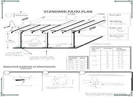 free patio cover blueprints plans design e89