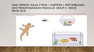 We did not find results for: Soal Kelas 3 Tema 1 Subtema 1 Ciri Ciri Makhluk Hidup K 13 Edisi Revisi 2018 Kumpulan Soal Tematik Sd