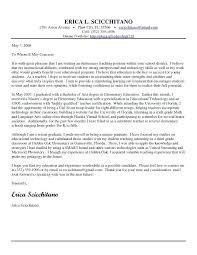 Teaching Cover Letter Templates Elementary Teacher Cover Letter