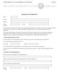 Equipment Loan Agreement Sample Letter Ndtech Xyz