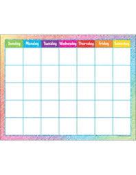 Colorful Scribble Calendar Chart