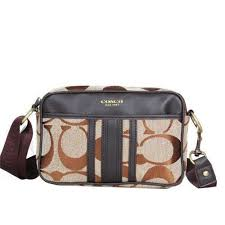 Coach Monogram Small Khaki Crossbody BagsDPM