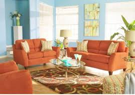 Orange Chairs Living Room Amazing Design Orange Living Room Furniture Staggering Orange