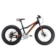 Детский <b>велосипед Stark</b>'18 <b>Rocket Fat</b> 20.1 D чёрный/оранжевый ...