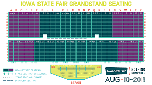 State Fair Seating Chart Mn Iowa State Fair Grandstand Seating