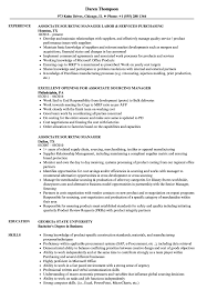 Sourcing Manager Resume Associate Sourcing Manager Resume Samples Velvet Jobs 2