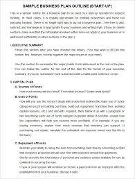 Sample Business Plans Templates Sample Startup Business Plan Template Schablonpenseln Com