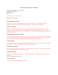 Example Executive Summary Report executive report template Ninjaturtletechrepairsco 1