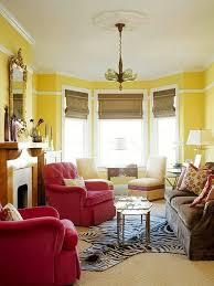 yellow living room red ideas