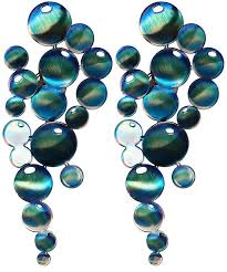 on metal wall art bathroom with infinity bubbles metal wall art sculpture set of 2