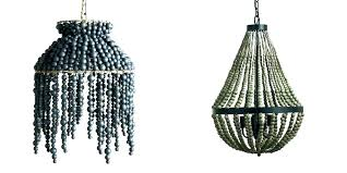 excellent wood bead chandelier pottery barn